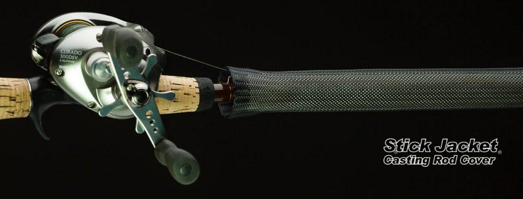 "2002 Black Casting Stick Jacket® Fishing Rod Cover (5-1/2'x5-1/8"")"