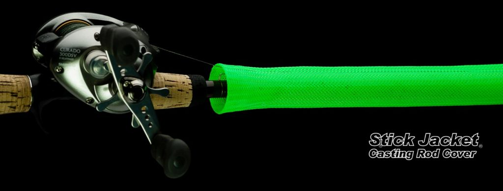 """2008 Neon Green Casting Stick Jacket® Fishing Rod Cover (5-1/2'x5-1/8"""")"""