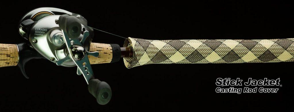 """2013 Rattlesnake Camo Casting Stick Jacket® Fishing Rod Cover (5-1/2'x5-1/8"""")"""