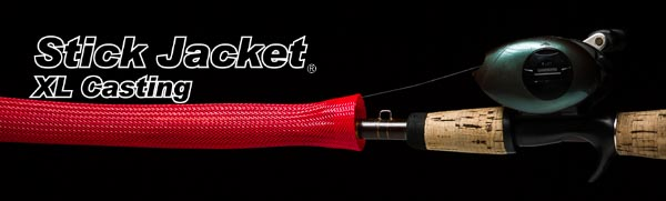"2034 Red XLCasting Stick Jacket® Fishing Rod Cover (6-1/2'x5-1/8"")"