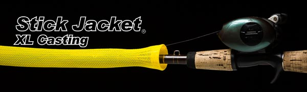 "2035 Yellow XLCasting Stick Jacket® Fishing Rod Cover (6-1/2'x5-1/8"")"