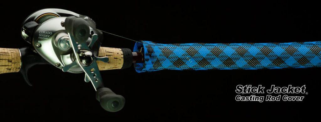 "2103 Black Sapphire Casting Stick Jacket® Fishing Rod Cover (5-1/2'x5-1/8"")"