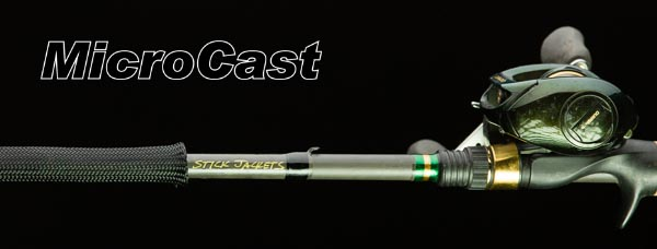 "2084 Black MicroCast Stick Jacket® Fishing Rod Cover (5-1/2'x2-1/2"")"