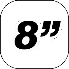 "8"" x 4.5"""
